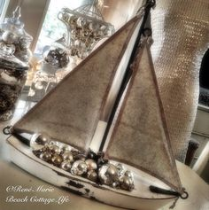 christmas sailboat by René Marie Photography | Beach Cottage Life | http://www.etsy.com/shop/BeachCottageLife