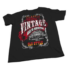 Vintage Aged To Perfection 1965 - Sturgis Distressed Print - 50th Birthday Gift T-shirt