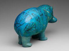 Statuette of a Hippopotamus [Egyptian; Middle Egypt, Meir] (17.9.1) | Heilbrunn Timeline of Art History | The Metropolitan Museum of Art