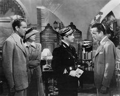 One of my all Time Favs!  ~ Still of Ingrid Bergman, Humphrey Bogart, Claude Rains and Paul Henreid in Casablanca