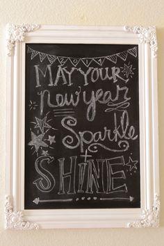 New Year Chalkboard Idea!
