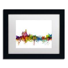 Amsterdam Skyline II by Michael Tompsett Framed Graphic Art in White