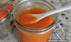 Lemons, carrots, and honey are simmered together in this savory-sweet marmalade that'd be great with meats. Marmalade Jam, Pickles, Ham, Cantaloupe, Carrots, Frozen, Lemon, Food And Drink, Homemade