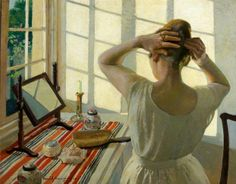.:. At the Dressing Table . Harold C. Harvey
