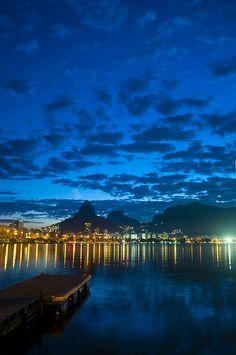Lagoa Rodrigo de Freitas, Rio de Janeiro, Brasil...