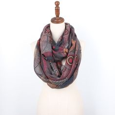 Staiwalks  paisley infinity loop scarf polka dot circle print soft ring nice quality Scarves staiwalks #fashion#style#stylish#shopping#brand#accessories#Accessories#fashion#jewelry#hair#boho