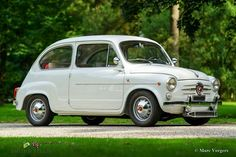 For Sale, Fiat 600 D Abarth 850 TC, year Colour white with a red leatherette interior trimmed with white Fiat 600, Fiat Abarth, Fiat Cars, Interior Trim, Garage, Black Rubber, Restoration, Van, Garages