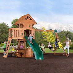 woodland cedar swingset - Lifetime Adventure Tower Playset