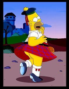 Oooo...I'm wearing a skirt like Groundskeeper Willie...hehe