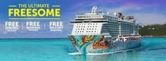 "Get ready for the ""Ultimate Freesome,"" our BIGGEST sale of the year! Book a balcony or mini-suite on Norwegian Getaway or Norwegian Breakaway and get a free Ultimate Dining Package; and book a suite and get a free Ultimate Dining Package, plus a free Ultimate Beverage Package! For details, visit: http://www.ncl.com/promo/ultimate-dining-and-beverage?cid=SM_NCL_GLO_NA_FBK_BKN_NA_ultimate0214_XXXXXXX_XXXXXXX"