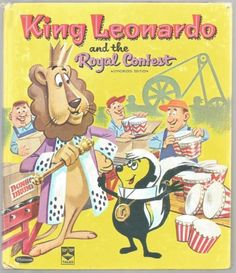 Vintage-Childrens-Top-Top-Tales-Book-KING-LEONARDO-and-the-Royal-Contest