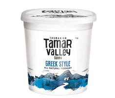 Greek Style Yoghurt by Tamar Valley - Such a great creamy slightly tangy youghurt. I add this as a side to many of my dishes such as curries or cooked chicken breast. Another great way to eat more yoghurt is to add it to sweet breakfasts such as toast or pancakes with jam and is great over a heated muffin.