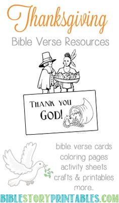 Thanksgiving Printables on Bible Story Printables