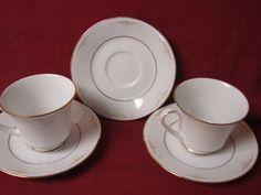 #Noritake, China Dinnerware Japan #Glendola  Pattern #:2220 set 2 Cup and saucer #noritake #Noritake