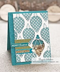 """WORKIN' OUT THE INKS: """"CHRISTMAS GLEAMING"""" - A CATALOG CASE & HOW TO MAKE AN EASY SHAKER CARD"""
