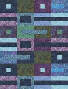 "Check out our FREE ""Precious Lapis"" quilt pattern using the collection, ""Rock…"