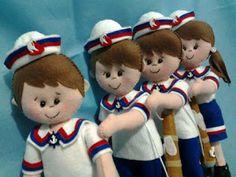 Bonecos Marinheiros (Menina e Menino)
