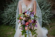 Our Wedding,   Waterfall bouquet, bright colours, wedding dress, wedding photography