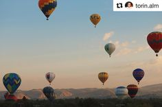 What magical mornings we've been having at #BoiseState thanks to the #SpiritOfBoise Balloon Fest!  Tonight at #AnnMorrisonPark is the Nite Glow and one more morning launch on Saturday!  What a spectacular way to start the fall semester! #GoBroncos!  Beautiful  by @torin.alm