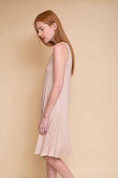 BLQ Midi Swing Dress / Creme