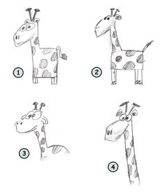 Cartoon Drawing Ideas How to draw a cartoon giraffe with a very long neck and a wild look! - How to draw a cartoon giraffe with a very long neck and a wild look! Drawing Cartoon Characters, Character Drawing, Cartoon Drawings, Animal Drawings, Cartoon Giraffe, A Cartoon, Doodle Drawings, Easy Drawings, Cute Giraffe Drawing