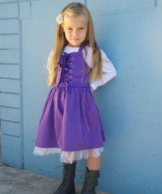 I LOVE THIS!!! Purple Halter Dress & Tee - Toddler & Girls