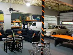 Man cave and garage