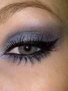 dark grey eye shadow