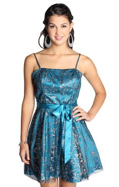 fit and flare all over sequin homecoming dress