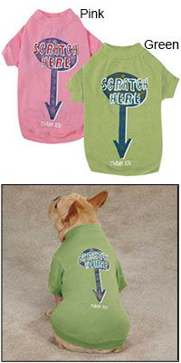 Zack & Zoey® Scratch Here Dog Tee at The Animal Rescue Site