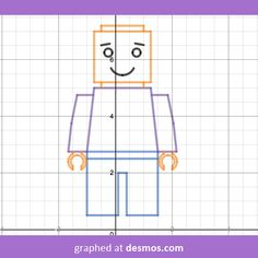 Lego Man - graphed by Daisy. Lego Men, Lego Club, Algebra, Birthday Decorations, Calculator, Painting & Drawing, Daisy, Projects To Try, Education