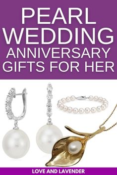 If youre looking for the perfect gift for your wife, we got you! It seems fitting then that the traditional gift for the 30th wedding anniversary is all things pearl jewelry! Catch them all here! #weddinganniversary #weddinganniversarygiftguide #30thweddinganniversary