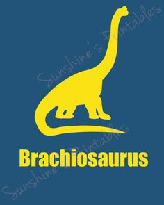 PRINTABLE Brachiosaurus Wall Decor by SunshinesPrintables on Etsy