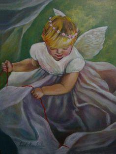 LITTLE ANGEL II, acrylic on canvas, 30x40cm