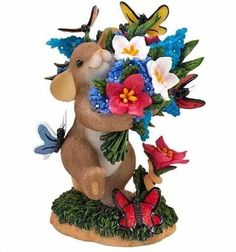 Charming Tails May Each Day Bring You Blossoms And Butterflies by Enesco