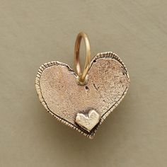Gold Always Heart Charm: Jes MaHarry's heart charm engraved with up to five initials. Stamped heart on reverse. I Love Heart, Heart Of Gold, My Heart, Heart In Nature, Heart Art, Heart Jewelry, Gold Jewelry, Bling, Paperclay
