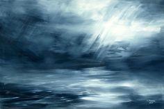 krajobraz   Obraz olejny pt: WIELKI BŁĘKIT
