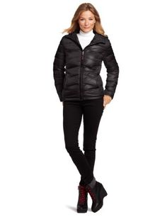 Tommy Hilfiger Women's Packable Down Jacket with Hood Tommy Hilfiger. $70.99. Warm down in an ultra-slim silhouette makes this packable jacket from Tommy Hilfiger a go-to for trips cross country or just to the grocer.. Machine wash. Made in China. 25-Inch Length. Hooded. Water resistant. 100% nylon, Lining: 100% polyester, Fill: 90% duck down/10% feathers