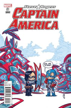 Skottie Young: Marvel Captain America Steve Rogers limited variant cover - Visit to grab an amazing super hero shirt now on sale! Baby Marvel, Chibi Marvel, Baby Avengers, Marvel Comic Books, Marvel Art, Marvel Dc Comics, Marvel Characters, Cosmic Comics, Skottie Young