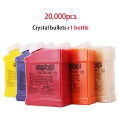 1 Bottle & 20000 Pcs Color Paintball Bullets Water Bullet Water Gun Orbeez Nerf Gun Accessories Toy Crystal Mud Soil Orbeez Ball
