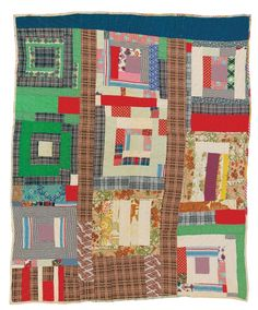 """Gearldine Westbrook - """"Housetop"""" variation - c. 1965 Cotton, double knit, polyester 81 x 74 inches Cool Artwork, Amazing Artwork, Gees Bend Quilts, Deep Foundation, American Quilt, House Quilts, Double Knitting, Quilt Top, Quilt Making"""