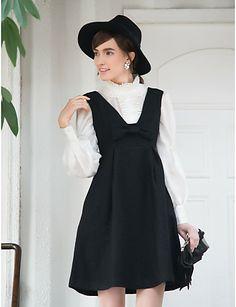 VINTAGE Bow Tie Swing Tweed Vest Dress