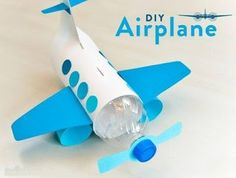 The plane of the bottle and paper ~ Crazzy Craft