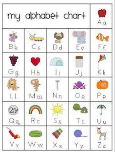 Classroom Freebies Too: My Alphabet Chart