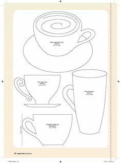 coffee cup template bjl templates pinterest coffee cups cups and coffee. Black Bedroom Furniture Sets. Home Design Ideas