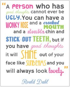 roald dahl quotes | Roald Dahl inspirational quote | Free EYFS / KS1 Resources for ...