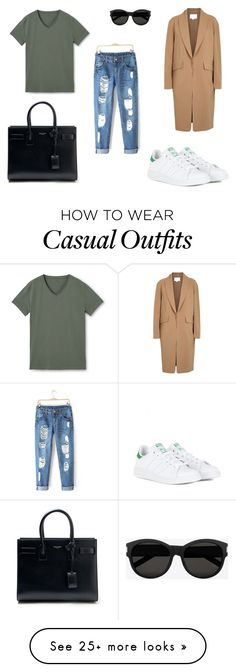 """Casual look"" by chloe-zal on Polyvore featuring Yves Saint Laurent, Alexander Wang, MANGO and adidas"
