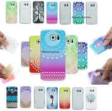 For Samsung Painted Ultra Slim Soft Silicone Rubber Skin Hollow Back Case Cover