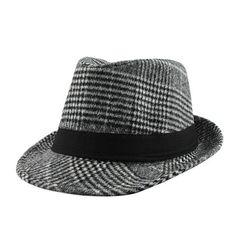 [FLB] Brand New Fashion Pure men Women's Large Brim Caps fedoras Floppy Jazz hat Vintage Popular wool caps Trilby Hat, Fedora Hat, Stylish Hats, Glen Plaid, Stripes Fashion, Cool Hats, Vintage Wool, Hats For Men, New Fashion