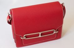 Hermes Sac Roulis in Rouge Casaque